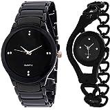 Shiva Shopiee IIK-Black Black Chain Watch - for Couple