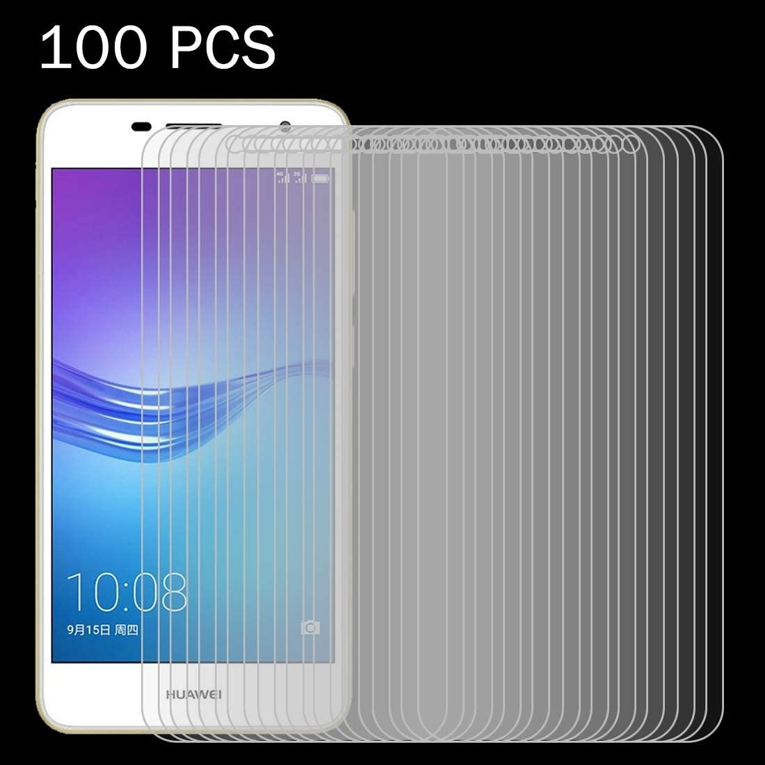 100 PCS for Huawei Enjoy 6s 0.26mm 9H Surface Hardness 2.5D Explosion-Proof Tempered Glass Screen Film Clear YINZHI Screen Protector Film