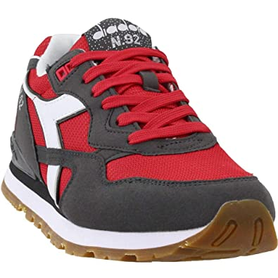 Diadora Mens N.92 Casual Sneakers, Red, 10: Amazon.it