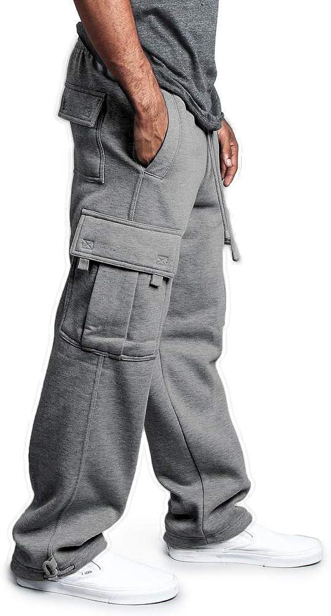 acelyn Pantalones de chándal para Hombre Pantalones de Lana ...