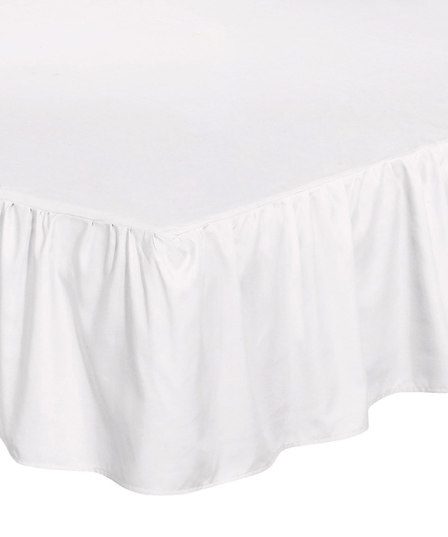 Utopia Bedding Bed Ruffle Skirt (Queen - White) - Brushed Microfiber Bed Wrap with Platform - Easy Fit - Gathered Style - 3 Sided Coverage by Utopia Bedding