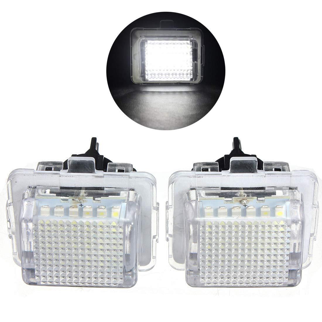 VIGORFLYRUN PARTS LTD 2Pcs LED Lumi/ère de Plaque dimmatriculation Canbus sans Erreur Blanc 6000K 18SMD LED Lumi/ère pour W204 W221 W212 W216