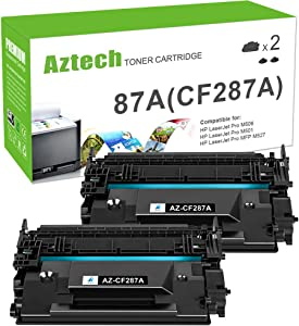Aztech Compatible Toner Cartridge Replacement for HP 87A CF287A 87X CF287X Laserjet Enterprise M506 M506dn M506n M506x M527dn Laserjet Pro M501dn (Black, 2-Packs)