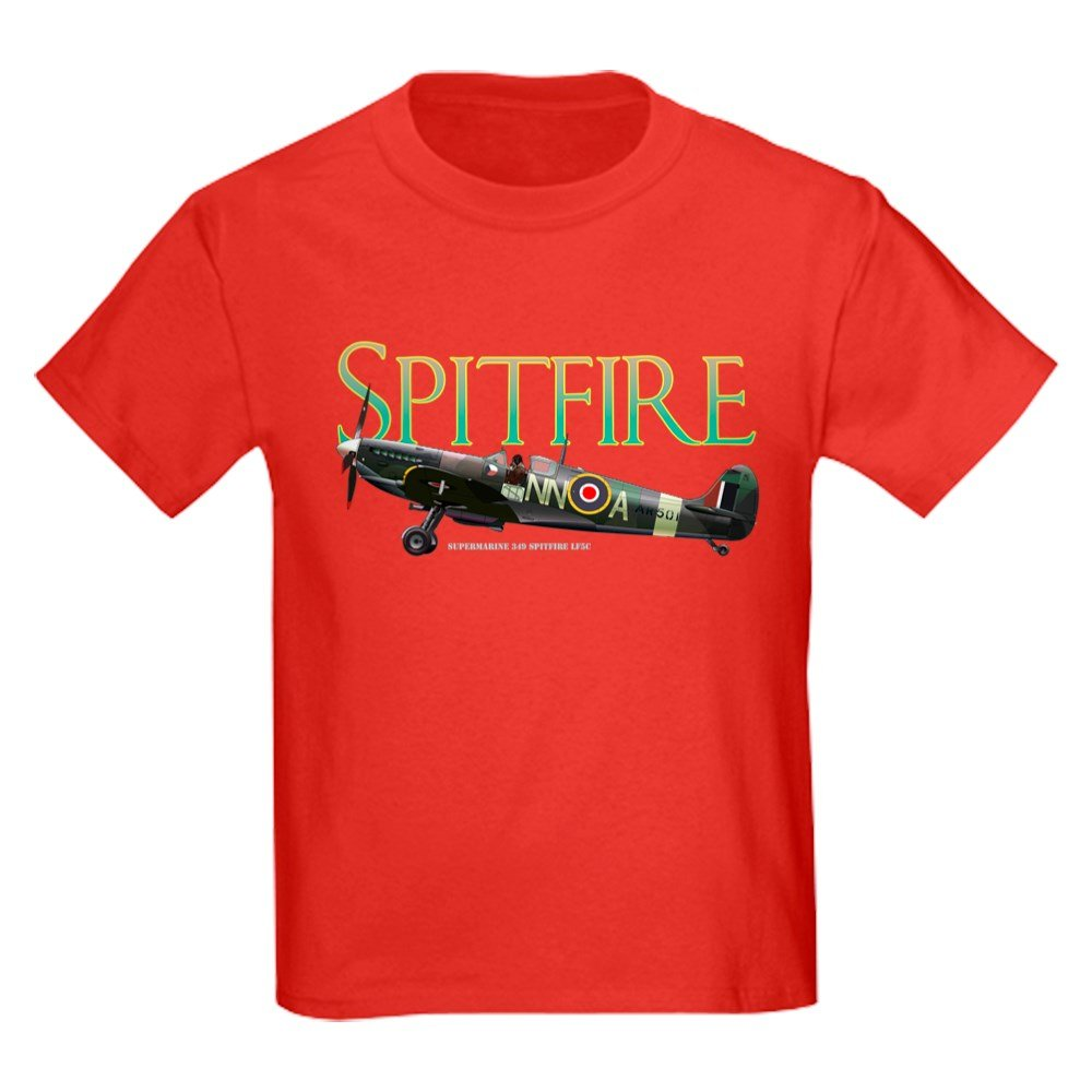 CafePress - Beautiful Spitfire Artwork On T-Shirt - Youth Kids Cotton T-shirt