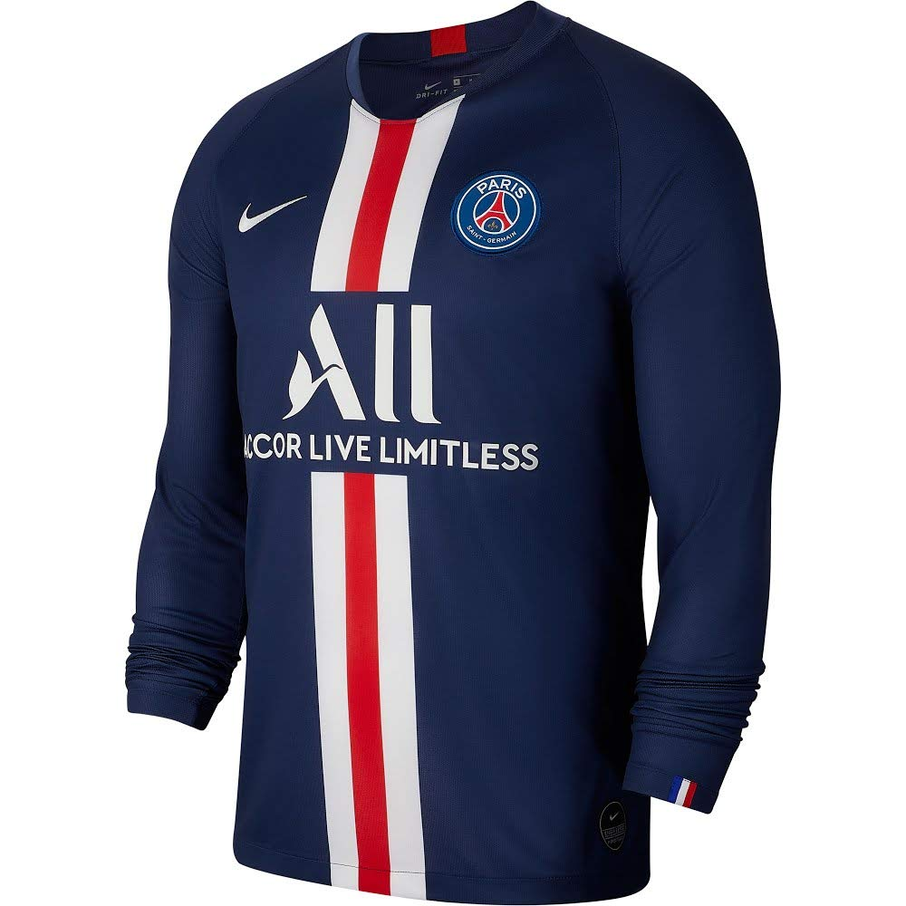 Nike 2019-2020 PSG Long Sleeve Home Football Soccer T-Shirt Jersey ...