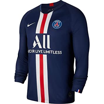 huge selection of 1bca7 0a925 Amazon.com : Nike 2019-2020 PSG Long Sleeve Home Football ...