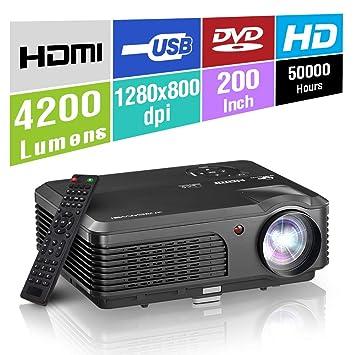 HD LED Proyector portátil Sistema de Juegos de Cine en casa 200 ...