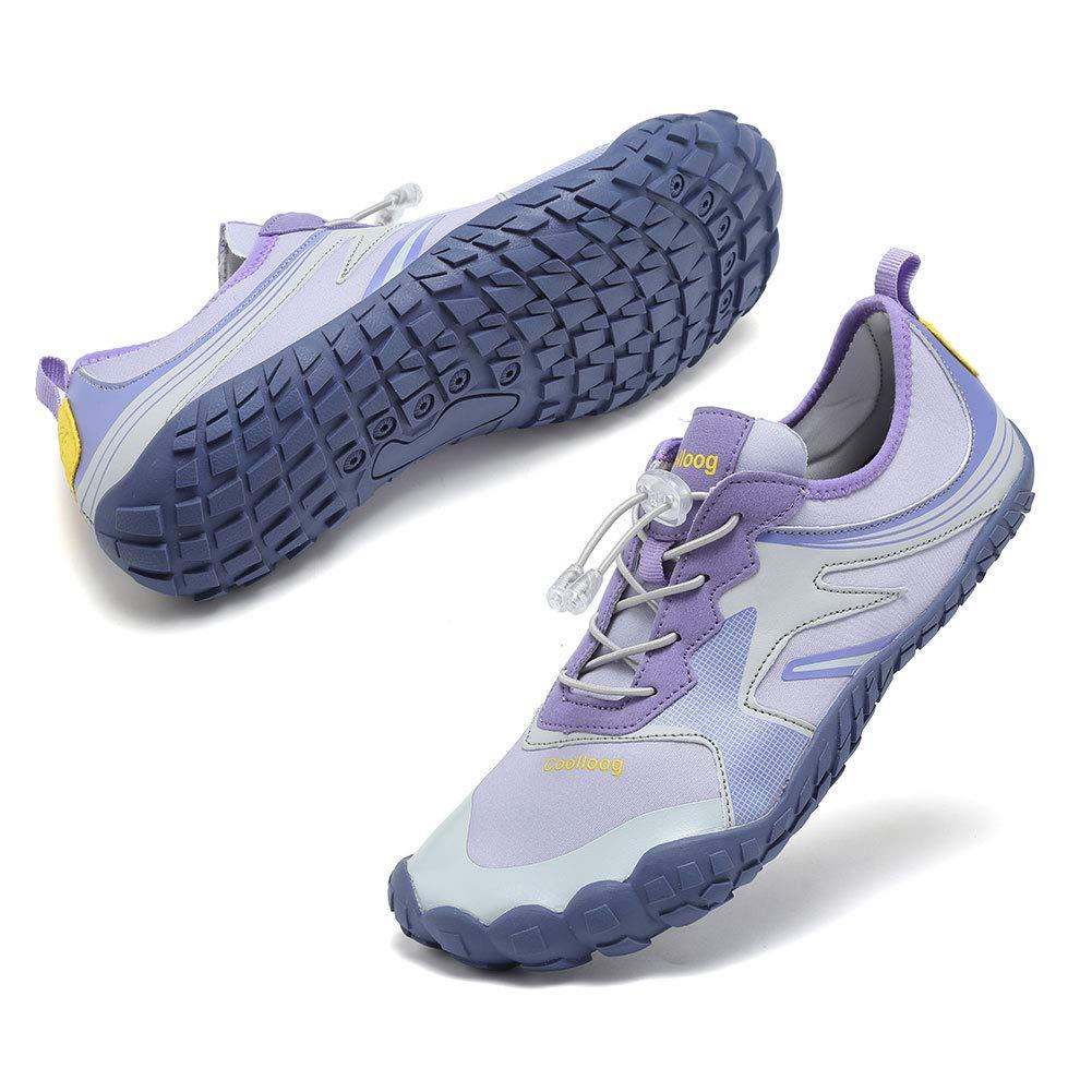 Coolloog Women Men Aqua Shoes Quick Dry Water Shoes Outdoor Indoor Shoes for Boating Kayaking Diving Beach Swim Yoga Purple 40 by Coolloog