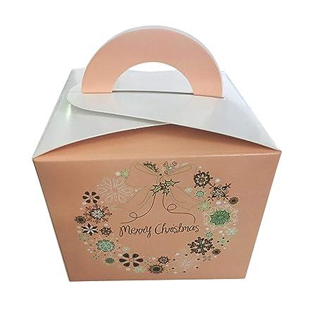 1 caja de caramelos de Navidad colorida con forma de cubo portátil ...