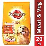 Pedigree Adult Dry Dog Food, Meat & Vegetables - 20 kg Pack