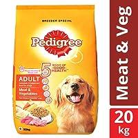 Pedigree Adult Dry Dog Food, Meat and Vegetables, 20 kg