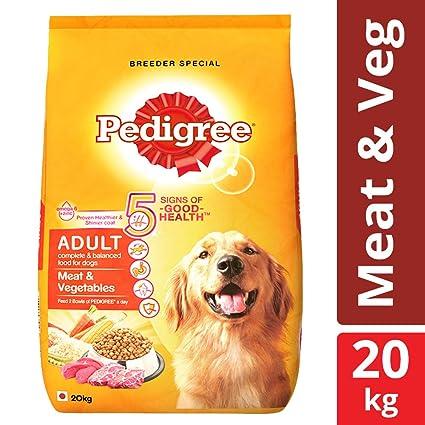 Buy Pedigree Adult Dry Dog Food Meat Vegetables 20 Kg Pack