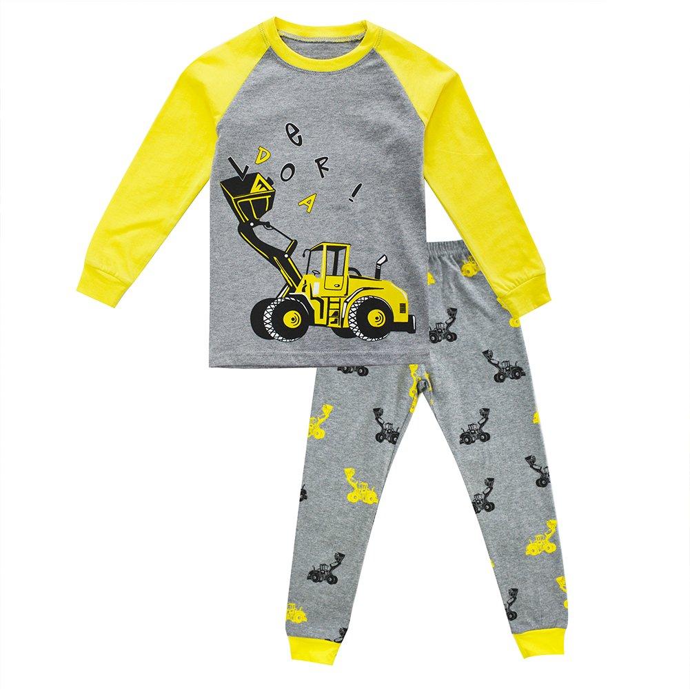 Toddler Boys Pajamas Truck 100 Cotton Long Snuggle Fit Sleepwear 2pcs Pyjama Set PJ 2-7 Years 4-5 Years
