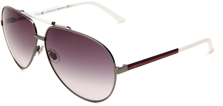f68254357e Gucci Gg 1933 S 6Xl Gun Metal White Sunglasses  Amazon.co.uk  Clothing