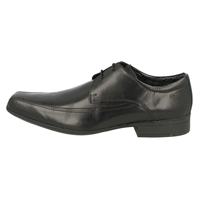 2f918acf3 Clarks Men s Lace-Up Derby Shoes Aze Day Black Leather  Amazon.co.uk  Shoes    Bags