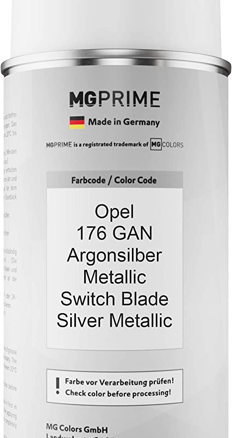 Mg Prime Autolack Sprühdosen Set Für Opel 176 Gan Argonsilber Metallic Switch Blade Silver Metallic Basislack Klarlack Spraydose 400ml Auto