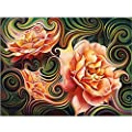 Ingzy 5D Diamond Painting Kits Paint by Numbers DIY Full Drill Cross Stitch Wall Sticks Decor Home Art,Lotus Flowers(30x40CM/12 x 16)