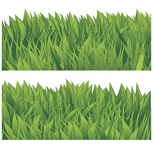 (Wandkings Border Grass Border, 2 Pieces Each 120 cm, Total Length: 240 cm, self-Adhesive)