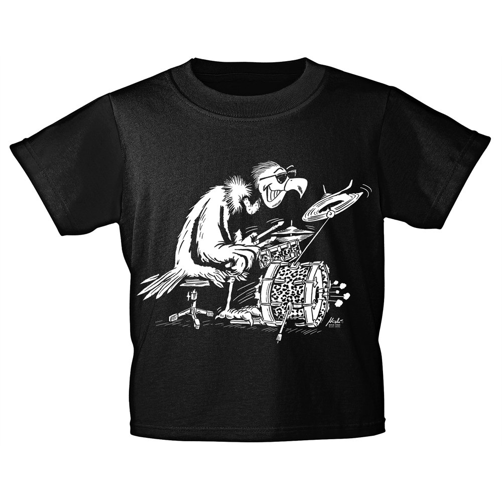Kinder T-Shirt mit Print - Drum Geier - 12284 Gr. 92-146 - Rock You© Music Shirts
