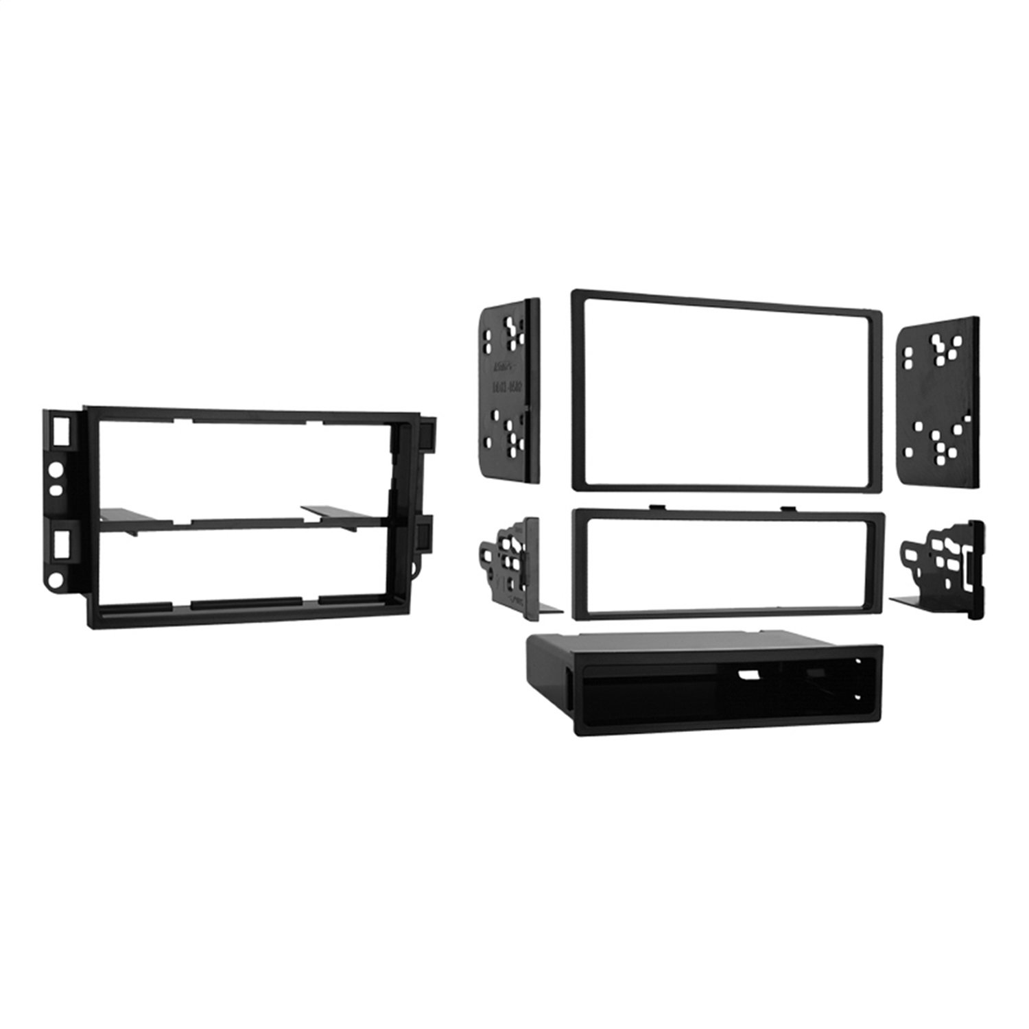 Metra 99-3306 Double DIN or Single DIN Installation Dash Kit for 2007-up Chevrolet Aveo and Pontiac G3 (Black) Metra Electronics Corporation