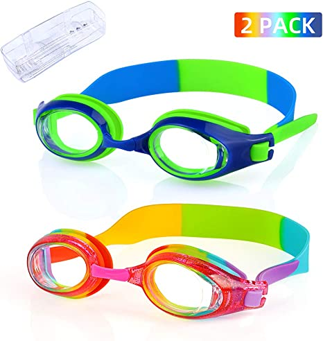 Kids Child Anti Fog Swim Goggles Adjustable Swimming Glasses 2pcs Ear Plug