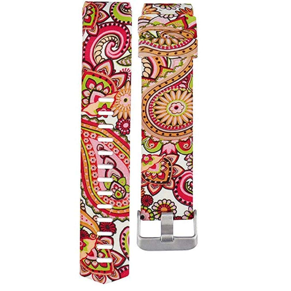 Fashion Clearance! Noopvan for Fitbit Charge 2 Straps Replacement Bands Adjustable Accessory Wristbands for Fitbit Charge 2 Large Small Variety of Colors Patterns (C)