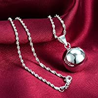 new Fashion 1pcs 925 Silver Big Bell Ball Pendant jewelry gift N-4 by Siam panva