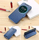 TASLAR Flip Cover with Stand for Asus Zenfone Max ZC550KL-6A068IN(Blue)