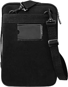 V7 Black Protective Laptop Sleeve Case for 12 Inch MacBook or Chromebook, Shockproof, Spill-Resistant - CSE12HS-BLK-9N