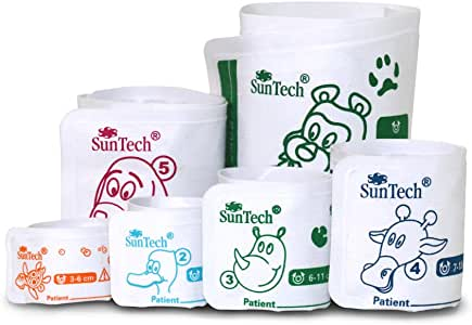 SunTech Veterinary Blood Pressure Cuffs Pack of 6 Sizes #1-6