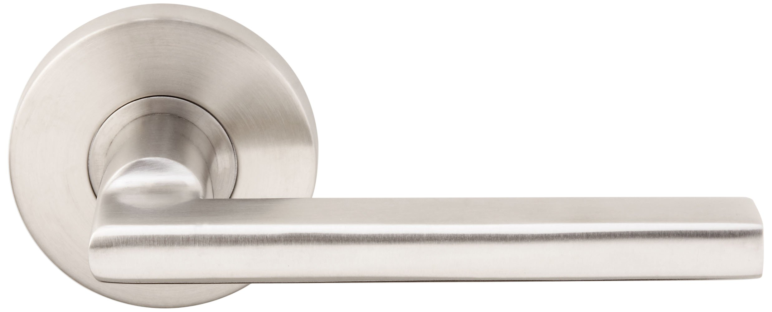 INOX RA243L62-32D Rosette Tubular Privacy Set With Sunrise Lever & Backset, 2-3/8'', Satin Stainless Steel