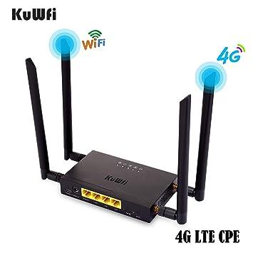 Amazon.com: KuWFi - Router inalámbrico para coche 4G LTE ...