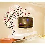 Decals Design 'Beautiful Magic Tree with Flowers' Wall Sticker (PVC Vinyl, 50 cm x 70 cm)