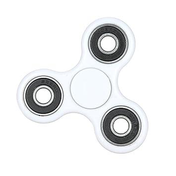 Tom\'s Fidgets TOM-WHT-1 Tri-Spinner Fidget Toy, White