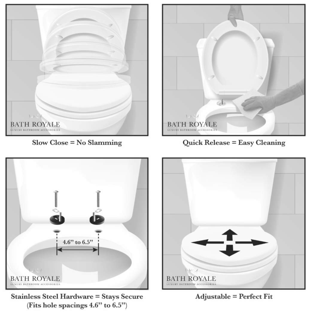 Bath Royale Superior Elongated Toilet Seat With Cover
