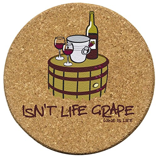 Thirstystone Isn't Life Grape Cork Coaster Set ()