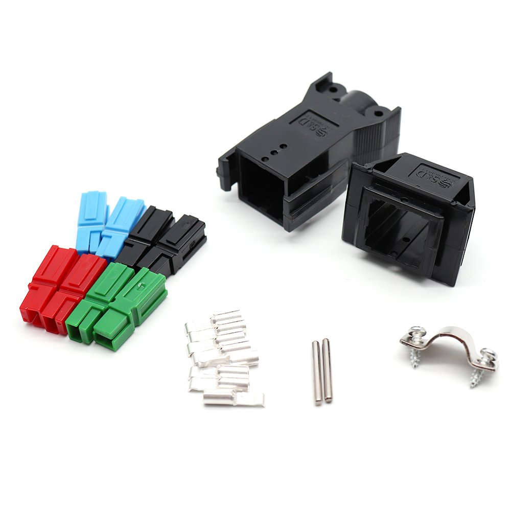 Karcy 45A 12-16 AWG Connector 4 position PCB Board Mounting Device 21 Pcs