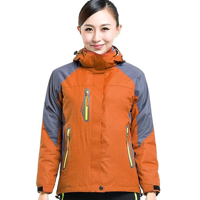 Baymate Unisex Casual Chaqueta Impermeable con Capucha Outdoor Sport Montañismo Abrigo Chaquetones Naranja#2 Mujer XL: Amazon.es: Ropa y accesorios