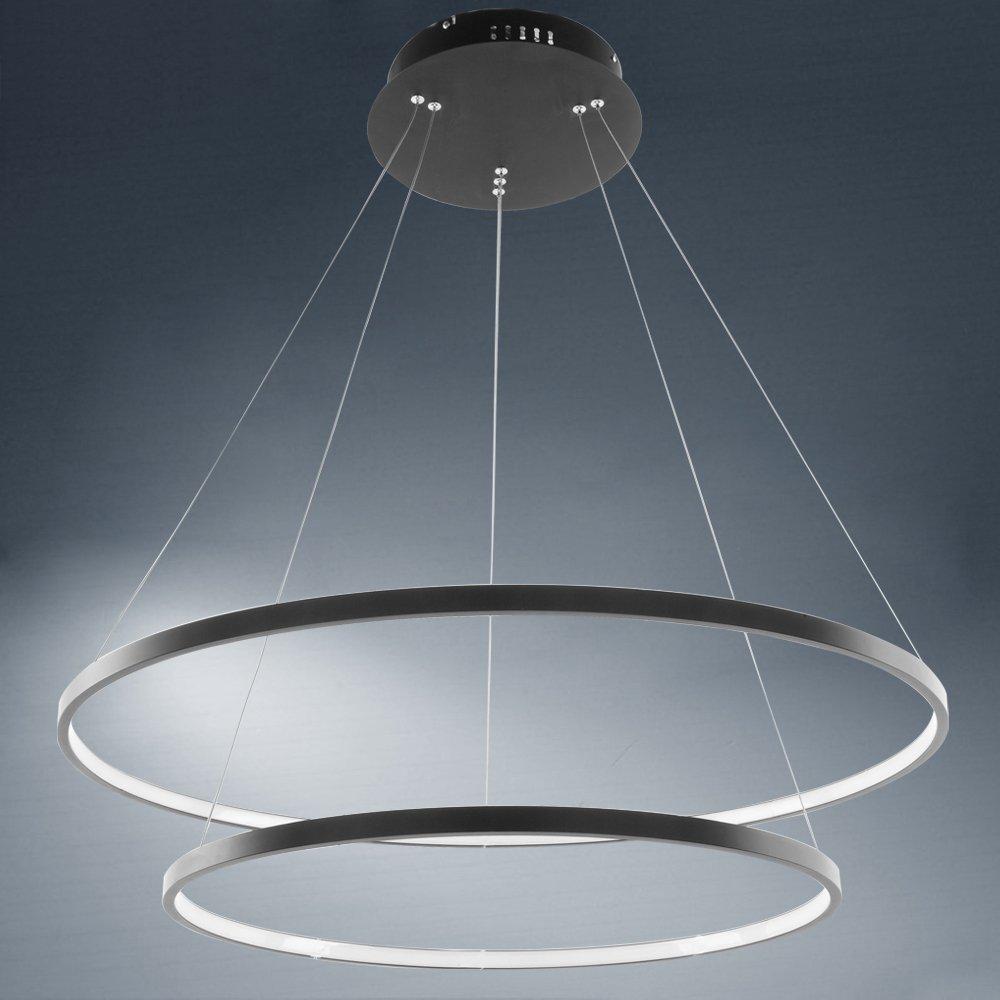 Neu 70W Kaltweiß LED Hängelampe Deckenlampe Lüster Wohnzimmer Acryl Kronleuchter