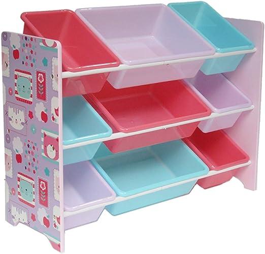 Estantería Infantil para Juguetes con 9 Cajas, para niños, Caja de ...