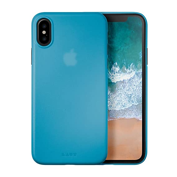 low priced 641f9 b6dc3 LAUT - SLIMSKIN 0.5mm Super Thin Case for iPhone X with Raised Camera  Protection (Blue)