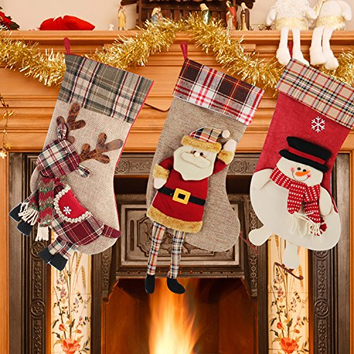 Christmas Stockings - Jusdreen Christmas Stockings 3 Pcs Set 18
