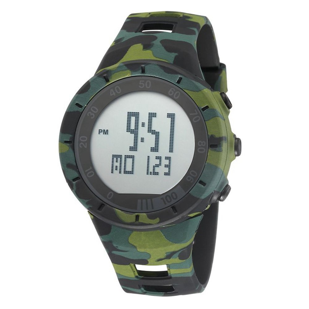 New Camouflage Cool Outdoor Sport Children's Watch Led Light Comfortable Rubber Band Multifunctional Trendy Hot Rugged