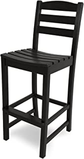 product image for POLYWOOD TD102BL La Casa Café Bar Side Chair, Black