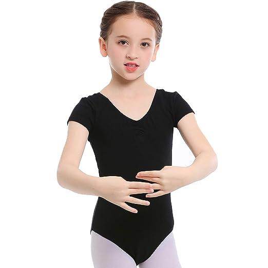 7d62ba6cc31bc Koolen Ballet Leotards for Girls, Girls Short Sleeve Leotard, Girls Leotard  Ballet Leotard for Dance, Gymnastics