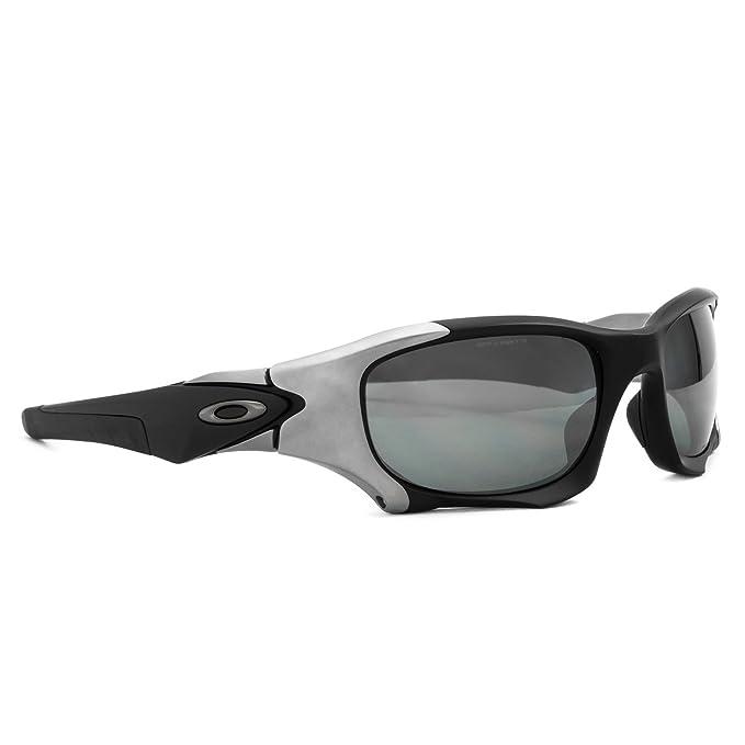 ... good oakley pit boss ii sunglasses oo9137 01 matte black black iridium  polarized oakley amazon clothing f6bb43b3fe
