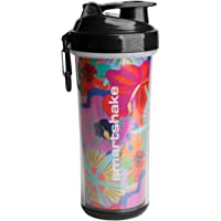 Smartshake Double Wall 25 oz Shaker Cup, Flower Power (Packaging May Vary)