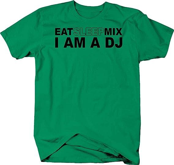 904cfa89e0d Amazon.com  Novelty Inc Eat Sleep Mix Im a DJ Music Turntables Color ...