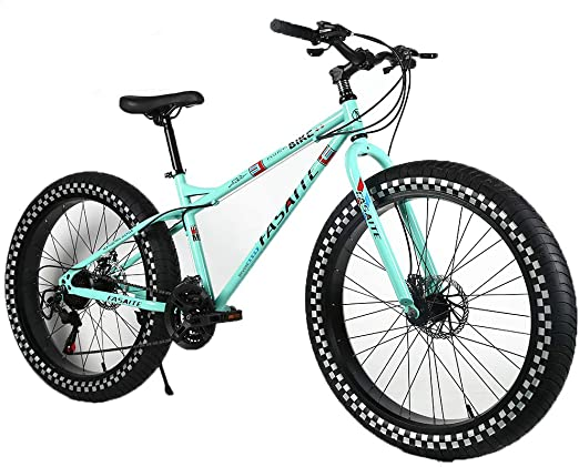 YOUSR Fat Tire Full Suspension MTB Hardtail Shimano 21 Speed ...