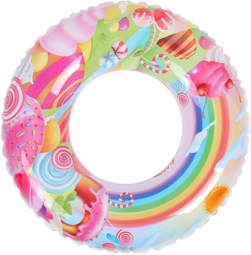 QIQIDEDIAN 浮き輪 水泳リング屋外遊び場水泳リング座っているピンクの女の子ファッションクリエイティブ多機能 (Size : 80)